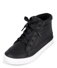 Childrens Place Black High Top Sneakers