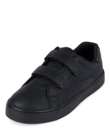 Childrens Place Black 2 Strap Sneakers