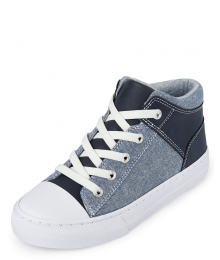 Childrens Place Denim/Blue Mid Top Sneakers Shoes