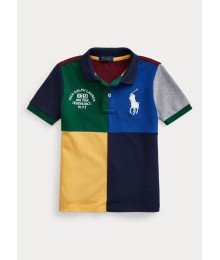 Polo Ralph Lauren Green/Blue/Yellow Multi Big Pony Polo Big Boy