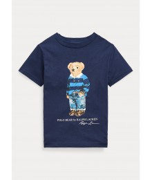 Polo Ralph Lauren Navy Polo Bear Cotton Jersey Tee Little Boy