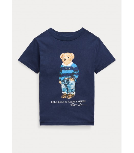 Polo Ralph Lauren Navy Polo Bear Cotton Jersey Tee