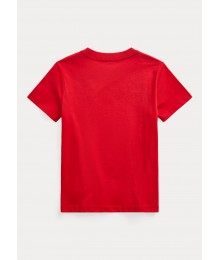 Polo Ralph Lauren Red Polo Bear Cotton Jersey Tee Big Boy