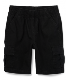 Childrens Place Black Cargo Shorts Big Boy