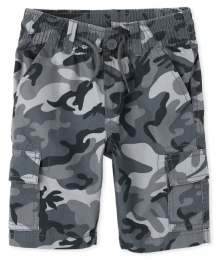 Childrens Place Grey Camo Cargo Shorts