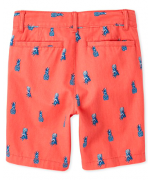 Childrens Place Orange Pineaple Shorts Big Boy
