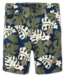 Childrens Place Green /Navy/Multi Leaf Shorts
