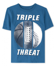 Childrens Place Bluestone Triple Threat Tee Little Boy