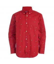 Chaps Red With Dog Print L/S Shirt Big Boy