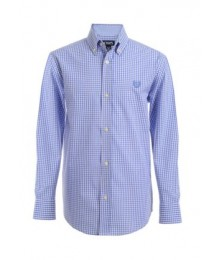 Chaps Light Blue Plain Long Sleeve Shirt Big Boy