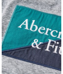 Abercrombie Grey Embroidered Logo Tee Big Boy