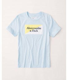 Abercrombie Light Blue Embroidered Logo Tee