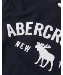 Abercrombie Black Embroidered Logo Tee