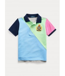 Polo Ralph Lauren Diagonal Light Green/Light Blue Grey No 5 Back Polo Little Boy
