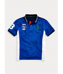 Polo Ralph Lauren Blue With White Side Polo Shirt