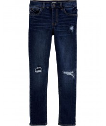 PRE-ORDER ONLY , AVAILABLE 10TH MARCH 2021 - Oshkosh Bgosh Blue Denim Stretch Rip & Repair Skinny Boys Jeans Big Boy