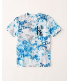PRE-ORDER ONLY - Available 31ST March 2021 - Abercrombie Blue Tie-Die Abercrombie Tee