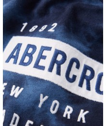 PRE-ORDER ONLY - Available 31ST March 2021 - Abercrombie Blue Tie Dye Graphic Logo Tee