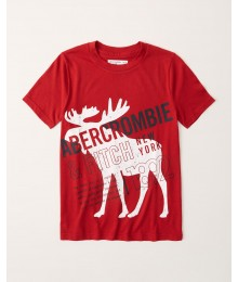 PRE-ORDER ONLY - Available 31ST March 2021 - Abercrombie Red Print Logo Tee