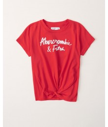 PRE-ORDER ONLY - Available 31ST March 2021 - Abercrombie Red Twist Front Logo Tee