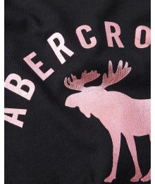 PRE-ORDER ONLY - Available 31ST March 2021 - Abercrombie Black Tie-Front Embroidered Tee