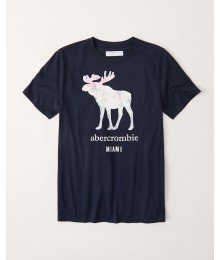 PRE-ORDER ONLY - Available 31ST March 2021 - Abercrombie Navy Blue Deer IconTee