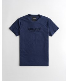 Hollister Navy Pattern Logo Tee