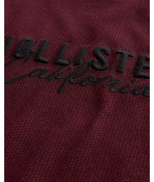 Hollister Burgundy Pattern Logo Tee