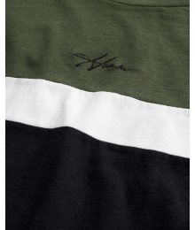 NEW ARRIVALS -  Hollister Green & Black Crewneck Tee