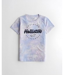Hollister Purple Tie-Dye Girls Applique Logo Tee