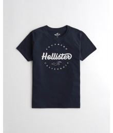 Hollister Black Girls Applique Logo Tee