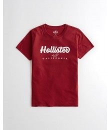Hollister Red Girls Applique Logo Tee