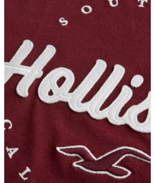 Hollister Burgundy Girls Applique Logo Tee
