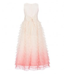 Bonnie Jean Pink Ombre Mesh Tiered Ball Gown