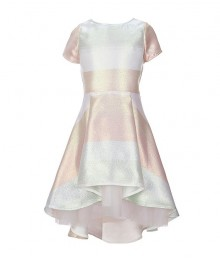 Xtraordinary Ivory/Pink/Multi Floral Fit & Flare Hi-Low Dress