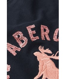 Abercrombie Black With Pink Sequin Girls Tee