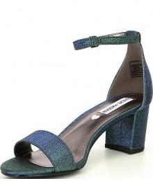Steve Madden Blue Multi J-Carrson Block Heel Sandals