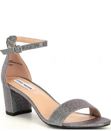 Steve Madden Pewter Multi J-Carrson Block Heel Sandals