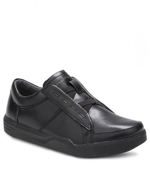 Hush Puppies Black Laceless Genius Slip On Shoes