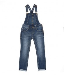 Hippie Girl Denim Button Front Overalls Big Girl