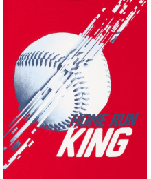 Childrens Place Red Baseball Home Run King Graphic Tee Little Boy
