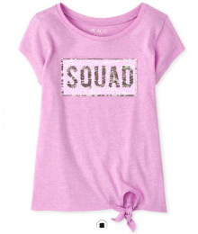 Childrens Place Lilac Squad Flip Sequin Tee