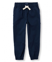 Childrens Place Navy Pull On Jogger Cotton Pants