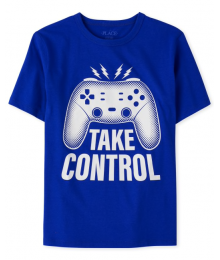 Childrens Place Blue Take Control Gamer Graphic Tee Little Boy