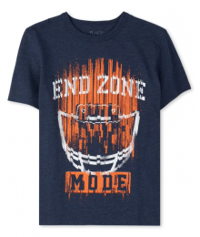 Childrens Place Dark Grey American Football End Zone Graphic Tee Little Boy