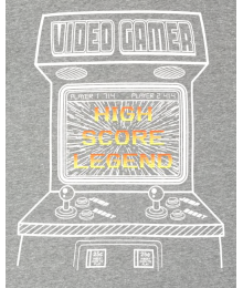 Childrens Place Grey Video Gamer Graphic Tee  Little Boy