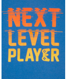 Childrens Place Blue Next Level Player Graphic Tee Little Boy