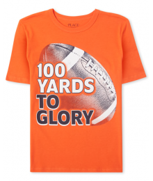 Childrens Place Orange 100 Yards To Glory Boys Football Graphic Tee Little Boy