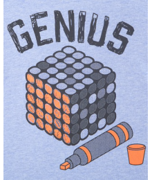 Childrens Place Blue Genius Graphic Tee Little Boy