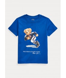 Polo Ralph Lauren Blue Polo Bear Cotton Jersey Tee